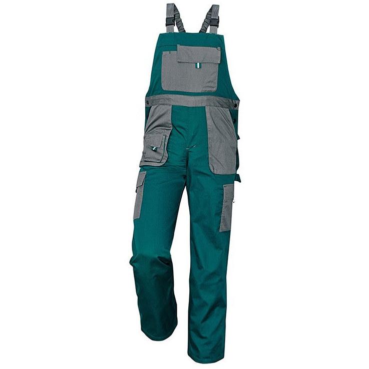 MAX EVOLUTION spodnie ogrodniczki (kolor zielony szary) Cerva