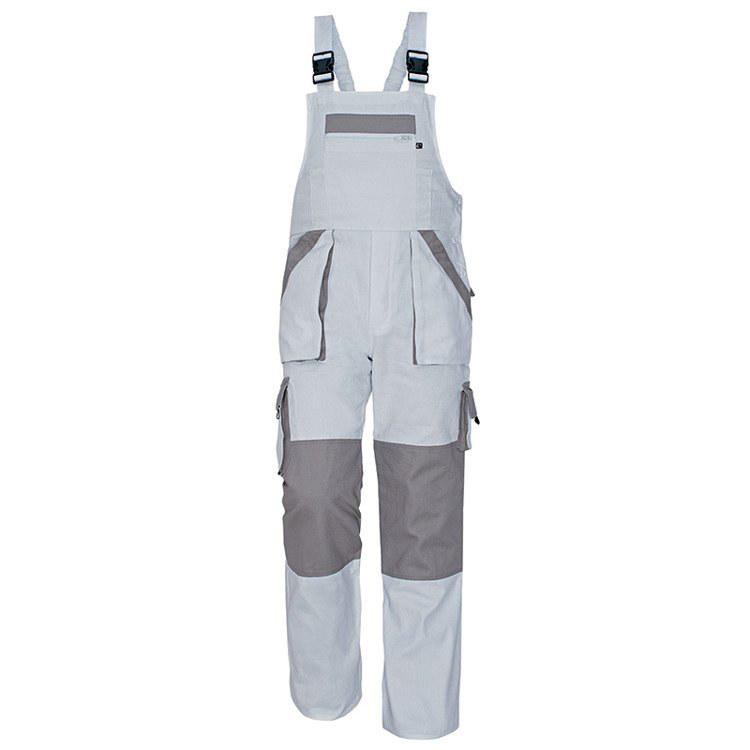MAX spodnie ogrodniczki (kolor biały szary) Cerva